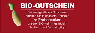 Bio Gutschein Nudel Huber