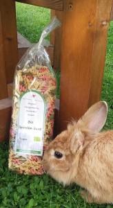 BIO Spiralen bunt mit Kaninchen