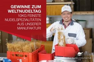 Nudelmanufaktur Huber Gewinnspiel zum Weltnudeltag