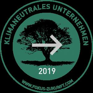 Logo klimaneutrales Unternehmen 2019