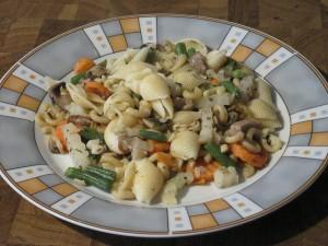 Bunte Gemüse-Nudel-Pfanne
