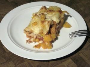 Kürbis-Lasagne 1