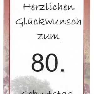 Besinnliches Zum 80 Geburtstag : sonder etikett zum 80 geburtstag nudelmanufaktur huber in diersbach ~ Frokenaadalensverden.com Haus und Dekorationen