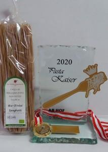 Nudelmanufaktur Huber_Pasta Kaiser 2020_Bio Dinkel Spaghetti_Auszeichnung Messe Wieselburg